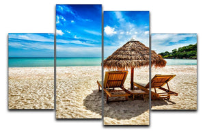 Vacation holidays 4 Split Panel Canvas - Canvas Art Rocks - 1