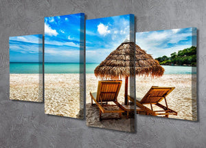 Vacation holidays 4 Split Panel Canvas - Canvas Art Rocks - 2
