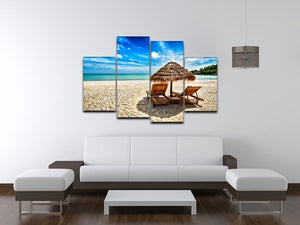 Vacation holidays 4 Split Panel Canvas - Canvas Art Rocks - 3