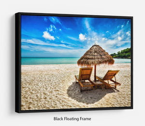 Vacation holidays Floating Frame Canvas - Canvas Art Rocks - 1
