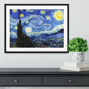 Van Gogh Starry Night Framed Print - Canvas Art Rocks - 1