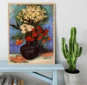 Vase with Carnations and Other Flowers by Van Gogh Framed Print - Canvas Art Rocks - 4