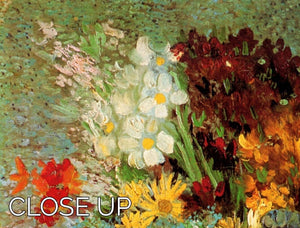 Vase with Daisies and Anemones by Van Gogh 3 Split Panel Canvas Print - Canvas Art Rocks - 3