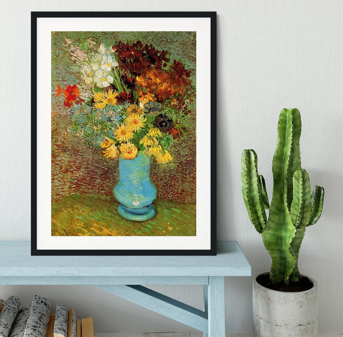 Vase with Daisies and Anemones by Van Gogh Framed Print