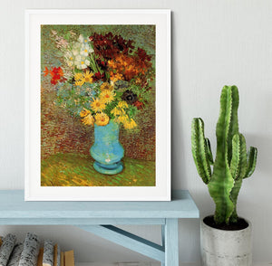 Vase with Daisies and Anemones by Van Gogh Framed Print - Canvas Art Rocks - 5
