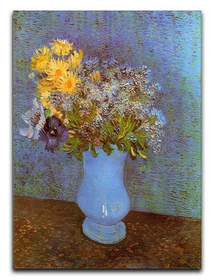 Vase with Lilacs Daisies and Anemones by Van Gogh Canvas Print & Poster  - Canvas Art Rocks - 1