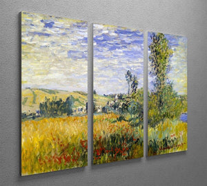 Vetheuil by Monet Split Panel Canvas Print - Canvas Art Rocks - 4