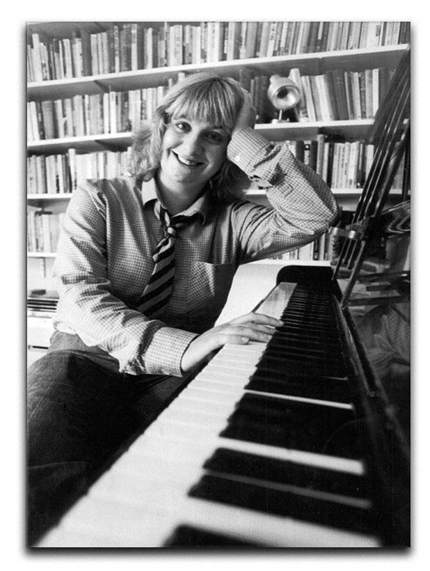 Victoria Wood at the piano Canvas Print or Poster
