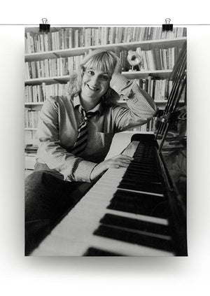 Victoria Wood at the piano Canvas Print or Poster - Canvas Art Rocks - 2