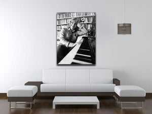 Victoria Wood at the piano Canvas Print or Poster - Canvas Art Rocks - 4