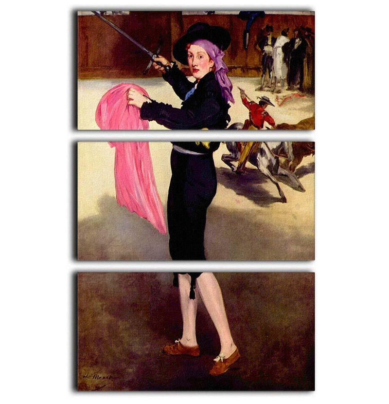 Victorine in the Costume of a Matador by Manet 3 Split Panel Canvas Print - Canvas Art Rocks - 1