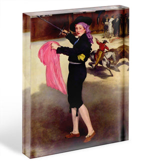 Victorine in the Costume of a Matador by Manet Acrylic Block - Canvas Art Rocks - 1
