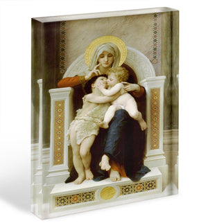 Vierge-Jesus SaintJeanBaptiste 1875 By Bouguereau Acrylic Block - Canvas Art Rocks - 1