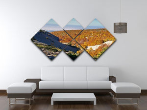View from the Mount Ventoux 4 Square Multi Panel Canvas  - Canvas Art Rocks - 3