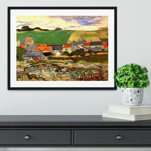 View of Auvers by Van Gogh Framed Print - Canvas Art Rocks - 1