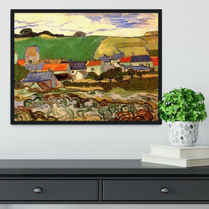 View of Auvers by Van Gogh Framed Print - Canvas Art Rocks - 2