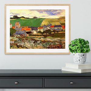 View of Auvers by Van Gogh Framed Print - Canvas Art Rocks - 3