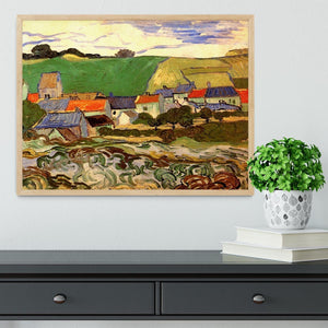 View of Auvers by Van Gogh Framed Print - Canvas Art Rocks - 4