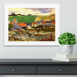 View of Auvers by Van Gogh Framed Print - Canvas Art Rocks - 5