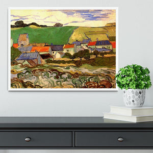 View of Auvers by Van Gogh Framed Print - Canvas Art Rocks -6