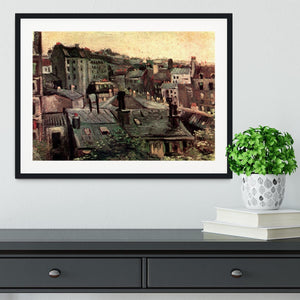 View of Roofs and Backs of Houses by Van Gogh Framed Print - Canvas Art Rocks - 1