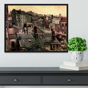 View of Roofs and Backs of Houses by Van Gogh Framed Print - Canvas Art Rocks - 2