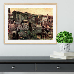 View of Roofs and Backs of Houses by Van Gogh Framed Print - Canvas Art Rocks - 3