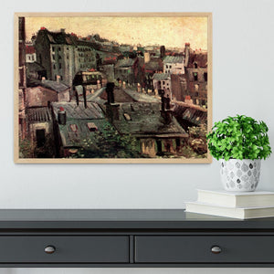 View of Roofs and Backs of Houses by Van Gogh Framed Print - Canvas Art Rocks - 4