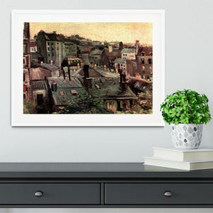 View of Roofs and Backs of Houses by Van Gogh Framed Print - Canvas Art Rocks - 5