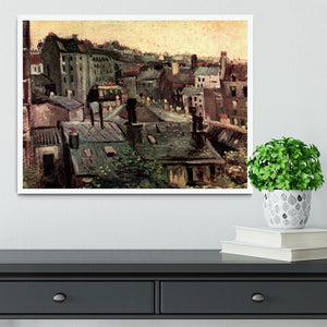 View of Roofs and Backs of Houses by Van Gogh Framed Print - Canvas Art Rocks -6