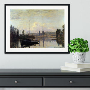 View of Rouen by Monet Framed Print - Canvas Art Rocks - 1
