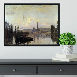 View of Rouen by Monet Framed Print - Canvas Art Rocks - 2