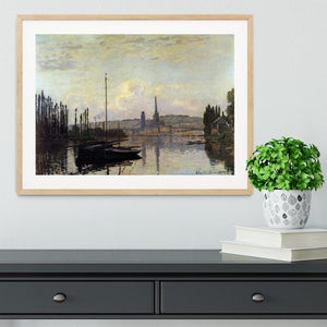 View of Rouen by Monet Framed Print - Canvas Art Rocks - 3