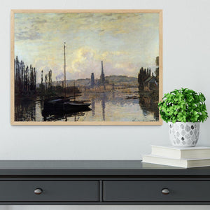View of Rouen by Monet Framed Print - Canvas Art Rocks - 4