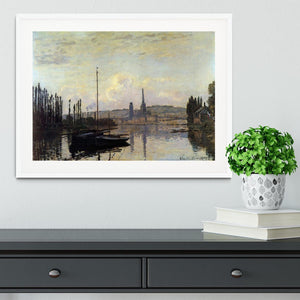 View of Rouen by Monet Framed Print - Canvas Art Rocks - 5