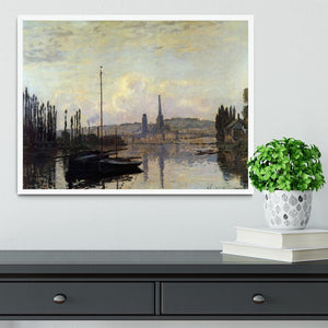 View of Rouen by Monet Framed Print - Canvas Art Rocks -6