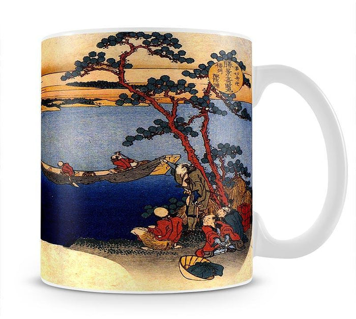 View of lake Suwa by Hokusai Mug