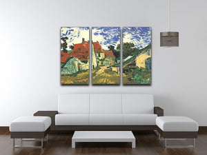 Villages Street in Auvers by Van Gogh 3 Split Panel Canvas Print - Canvas Art Rocks - 4