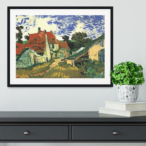 Villages Street in Auvers by Van Gogh Framed Print - Canvas Art Rocks - 1