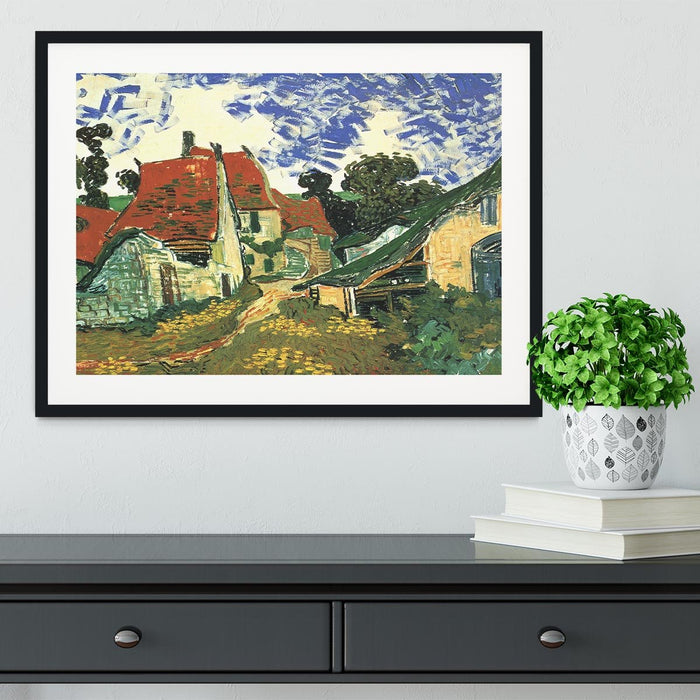 Villages Street in Auvers by Van Gogh Framed Print