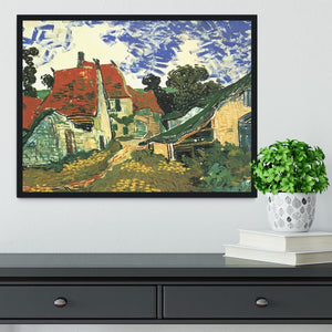 Villages Street in Auvers by Van Gogh Framed Print - Canvas Art Rocks - 2