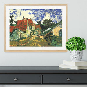 Villages Street in Auvers by Van Gogh Framed Print - Canvas Art Rocks - 3