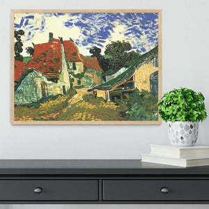 Villages Street in Auvers by Van Gogh Framed Print - Canvas Art Rocks - 4