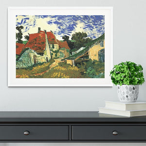 Villages Street in Auvers by Van Gogh Framed Print - Canvas Art Rocks - 5