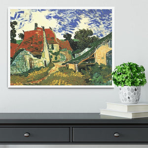 Villages Street in Auvers by Van Gogh Framed Print - Canvas Art Rocks -6