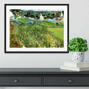 Vineyards with a View of Auvers by Van Gogh Framed Print - Canvas Art Rocks - 1