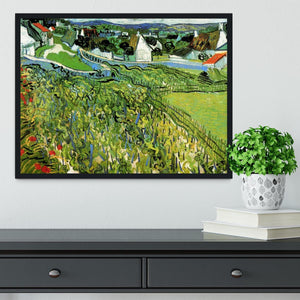 Vineyards with a View of Auvers by Van Gogh Framed Print - Canvas Art Rocks - 2