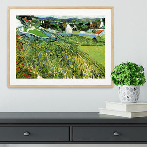Vineyards with a View of Auvers by Van Gogh Framed Print - Canvas Art Rocks - 3