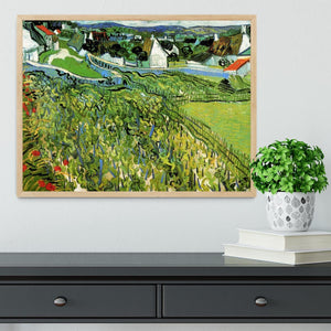 Vineyards with a View of Auvers by Van Gogh Framed Print - Canvas Art Rocks - 4