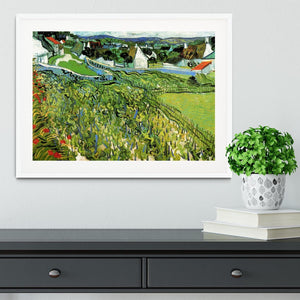 Vineyards with a View of Auvers by Van Gogh Framed Print - Canvas Art Rocks - 5